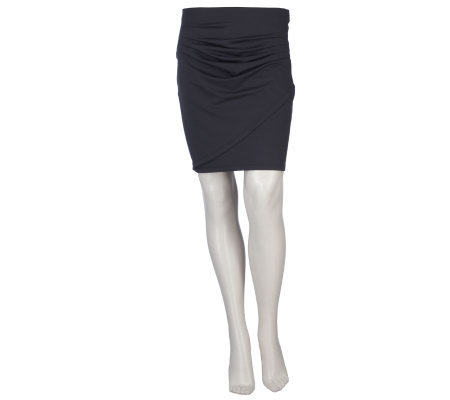 K-DASH by Kardashian Knit Skirt with Pleating Detail
