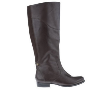 Isaac Mizrahi Live! Gored Back Smooth Leather Riding Boots - A218506
