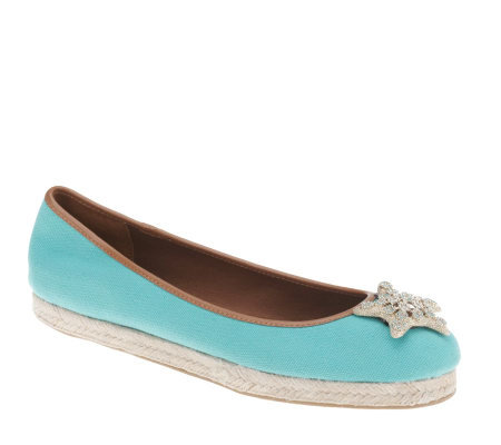 Isaac Mizrahi Live! Espadrille with Starfish Ornamentation