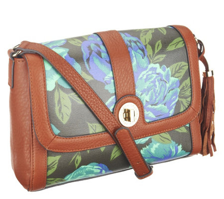 Isaac Mizrahi Live! Bridgehampton Printed Canvas Crossbody