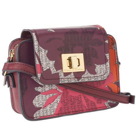 Emma & Sophia Printed Leather Crossbody