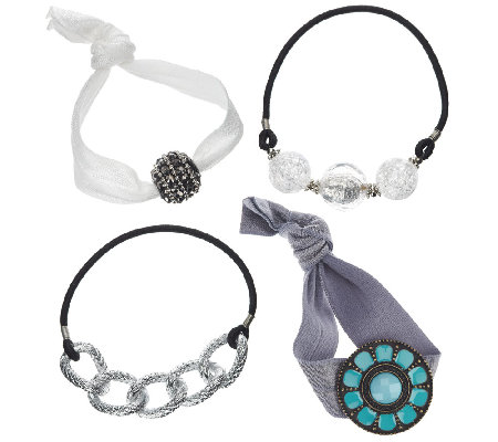 Bandazzles Set of 4 Bracelet Hair Bands