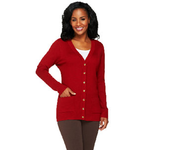 Linea by Louis Dell'Olio Whisper Knit Button Up Cardigan - A259706