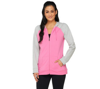 Denim & Co. Active French Terry Jacket w/ Hood - A261806