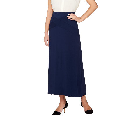 SA by Seth Aaron Maxi Skirt with Waist Band Detail