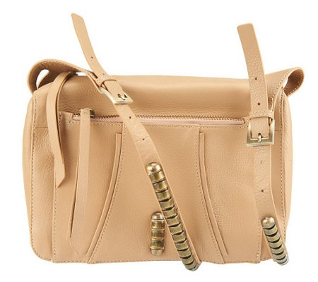 """As Is"" Kelsi Dagger Stellan Pebble Leather Crossbody with Adj. Strap"