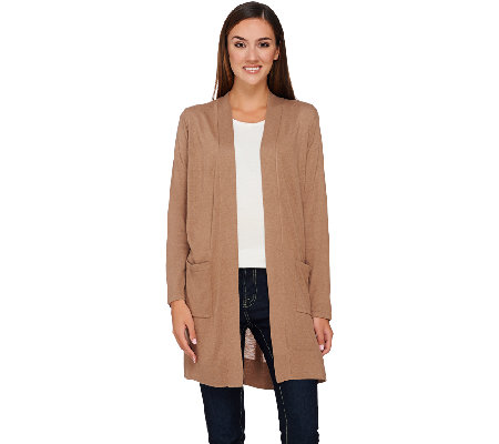 Susan Graver Rayon Nylon Long Sweater Cardigan