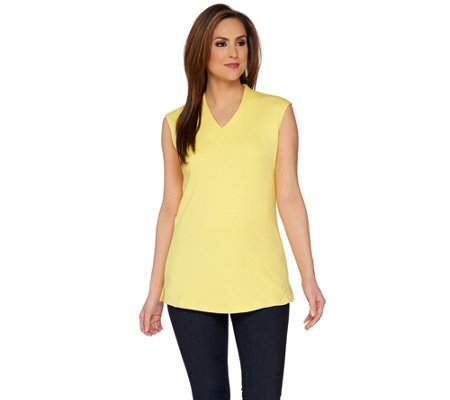 Isaac Mizrahi Live! Essentials Extended Shoulder Tunic
