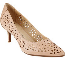 Isaac Mizrahi Live! Perforated Leather Pumps - A273206