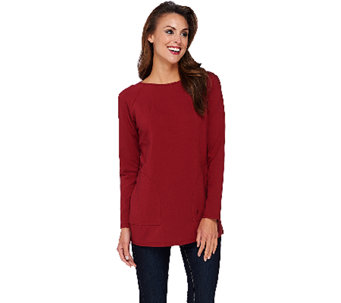 """As Is"" Linea Leisure by Louis Dell'Olio Raglan Sleeve Knit Tee - A274606"