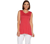 LOGO Layers by Lori Goldstein Color-Block Knit Tank with Back Detail - A275806