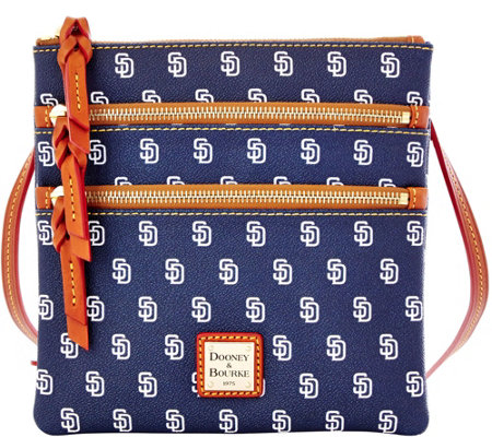 Dooney & Bourke MLB Padres Triple Zip Crossbody