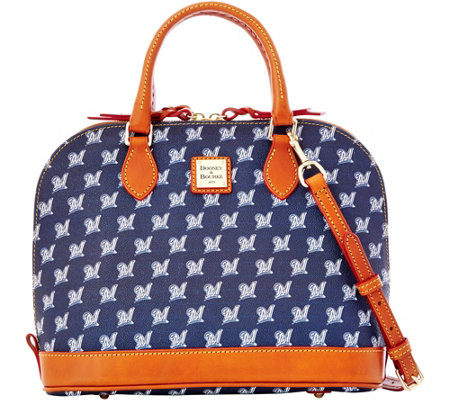 Dooney & Bourke MLB Brewers Zip Zip Satchel