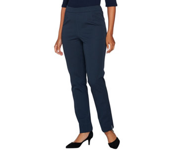 C. Wonder Stretch Twill Pull-On Ankle Length Pants - A280606