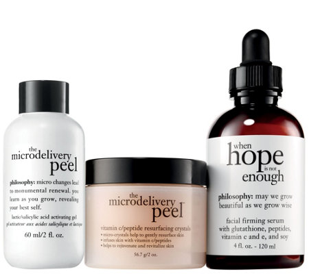 philosophy peel and deeply treat anti-aging duo
