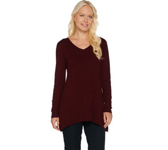 Linea by Louis Dell'Olio Whisper Knit V-Neck Sweater - A282506