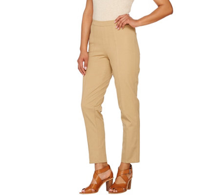 """As Is"" Isaac Mizrahi Live! Tall 24/7 Stretch Ankle Pants w/ Seam"