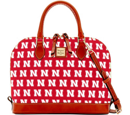 Dooney & Bourke NCAA University of Nebraska Zip Zip Satchel