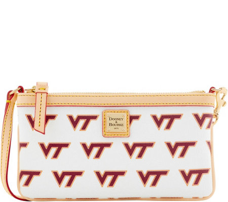 Dooney & Bourke NCAA Virginia Tech University Slim Wristlet