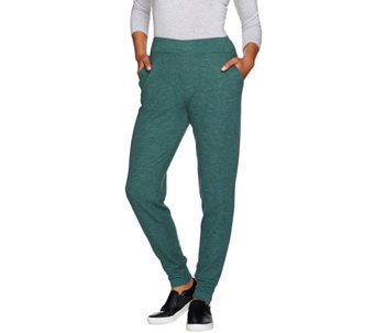 """As Is"" LOGO Lounge by Lori Goldstein Petite Thermal Knit Pants - A283706"