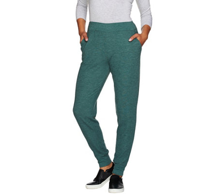 """As Is"" LOGO Lounge by Lori Goldstein Petite Thermal Knit Pants"