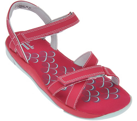 """As Is"" Clarks Adjustable Multi-strap Sport Sandals - Tresca Trace"