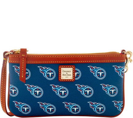 Dooney & Bourke NFL Titans Large Slim Wristlet
