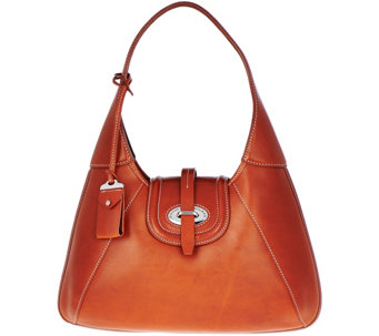 """As Is"" Dooney & Bourke Florentine Toscana Front Stich Hobo Bag - A290006"