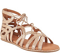 Gentle Souls Leather Lace-up Sandals - Break My Heart - A291806