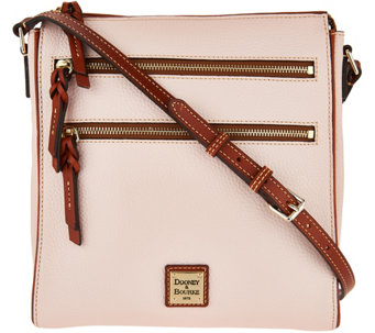 Dooney & Bourke Pebble Leather Triple Zip Crossbody Handbag - A293006