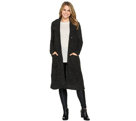"""As Is"" Lisa Rinna Collection Duster with Oversize Lapels"