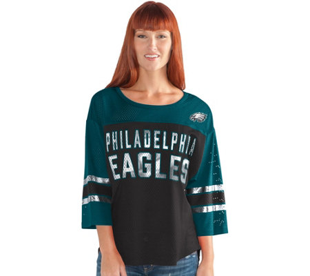 NFL Womens 3/4 Sleeve Mesh Top