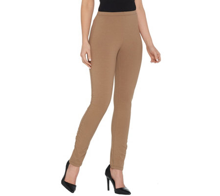 Women with Control Pull-On Slim Leg Pant with Side Ruching