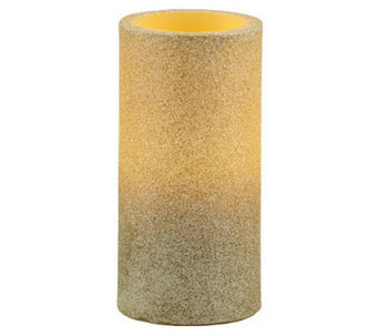 Pacific Accents Glitter Pillar Candle - A327606