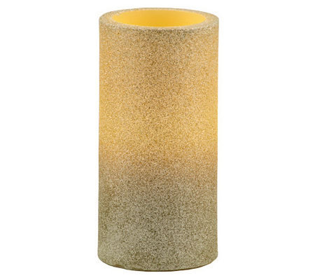 Pacific Accents Glitter Pillar Candle
