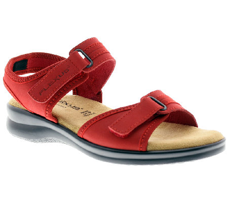 Flexus by Spring Step Danila Leather Quarter-Strap Sandals