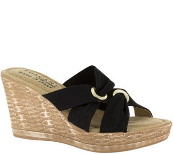 Tuscany by Easy Street Stretch Wedge Sandals -Solaro - A356806
