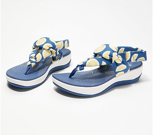 CLOUDSTEPPERS by Clarks Jersey Sandals - Arla Nicole - QVC.com