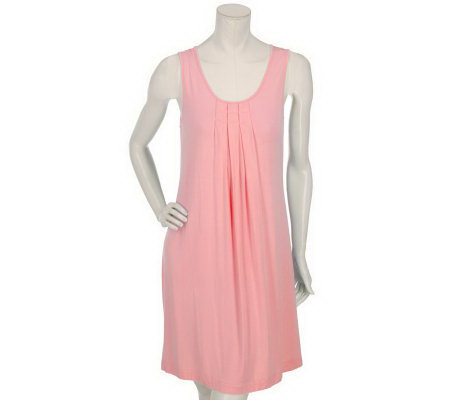 Carole Hochman Sleeveless Pleated Nightgown
