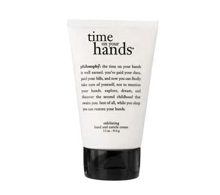 philosophy time on your hands exfoliating hand/cuticle cream