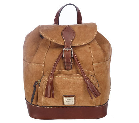 dooney bourke nubuck leather medium backpack with