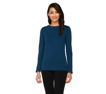 Isaac Mizrahi Live! Essentials Long Sleeve Knit Tee - A210207
