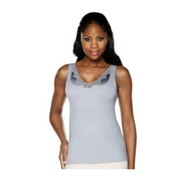 Kathleen Kirkwood Smooth & Lush Waist Slimming Cami with Lace