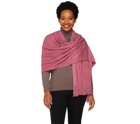 Layers by Lizden Marvelush Cable Knit Wrap