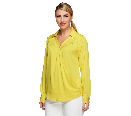 Styled by Joe Zee V-neck Convertible Blouse