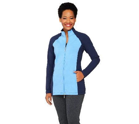 Denim & Co. Active Duo-Stretch Color-Block Jacket