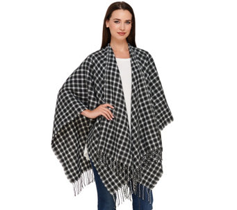 Liz Claiborne New York Heritage Collection Plaid Ruana - A267307