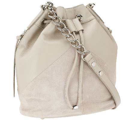 """As Is"" Marc Fisher Drew Leather & Suede Bucket Bag"
