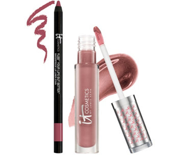 IT Cosmetics Vitality Soft Stain Gloss & YLBB Lip Liner Stain Duo - A274407
