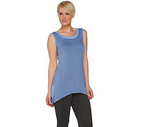 LOGO by Lori Goldstein Color-Block Knit Tank with Hi-Low Hem - A275807